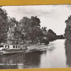 DELTA DUNARII CANALUL DRANOV 1965
