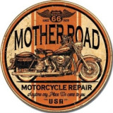 122.Reclama metalica vintage MOTHER ROAD