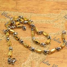 Set bratara+lant inox placat cod 1007 - Set bijuterii inox