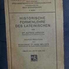 A Ernout Historische Formenlehre des Lateinischen 1920