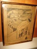 Lucrare grafica romaneasca pe carton: Drumul mortii- Carciuma, semnat indescifrabil