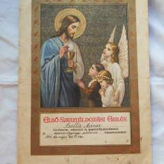 Document Vechi Religios Marturie Prima Impartasanie 1942 Catolic