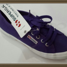 OFERTA! Tenisi dama SUPERGA originali People's shoes of Italy tesut mov 37, Textil