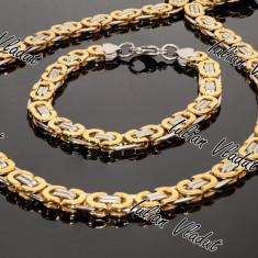 Set Lant si Bratara din inox cod 1029 - Set bijuterii inox