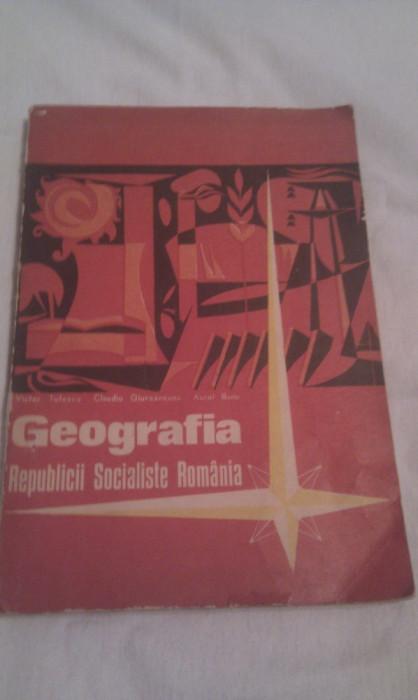 MANUAL EPOCA DE AUR GEOGRAFIE RSR CLASA XII DE VICTOR TUFESCU 1971