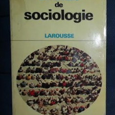 Sumpf Hugues Dictionnaire de Sociologie Larousse 1973