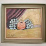 Superba lucrare, natura moarta cu fructe, semnata si datata 1943 - Pictor roman, Altul