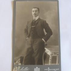 REDUCERE 20 LEI! FOTOGRAFIE PE CARTON JULIETTA BUCURESCI ANII 1910, Portrete, Romania 1900 - 1950