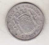 bnk mnd spania 2 pesetas 1870 , argint