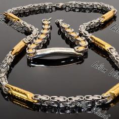 Set Lant+Bratara JESUS INOX COD 1113 - Set bijuterii inox