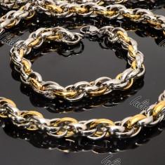 Set Lant+Bratara Cod 1025 - Set bijuterii inox