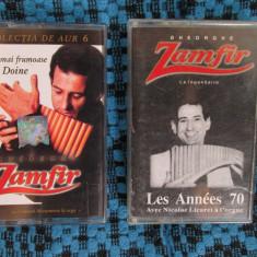 GHEORGHE ZAMFIR - LES ANNEES 70 + CELE MAI FRUMOASE DOINE (2 casete audio -NOI!)