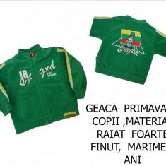 GEACA DE PRIMAVARA PTR COPII, MARIME 5 ANI, MATERIAL RAIAT FOARTE FINUT, LIVRARE GRATUITA, Culoare: Verde