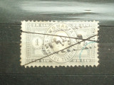 ROMANIA 1 LEU  1871 / SERVICIUL TELEGRAFIC / RAR, Stampilat