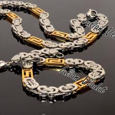 Set INOX model Versace lant+bratara Cod 1033 - Set bijuterii inox
