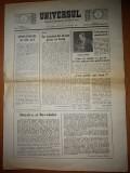 Ziarul universul 6-12 martie 1990-serie noua,nr. 1 ,primul nr.  dupa revolutie