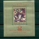 Polonia 1978. PRAGA '78. Expozitia filatelica internationala, Praga -colita 70*79- MNHOG- nestampilata-dantelata - Timbre straine