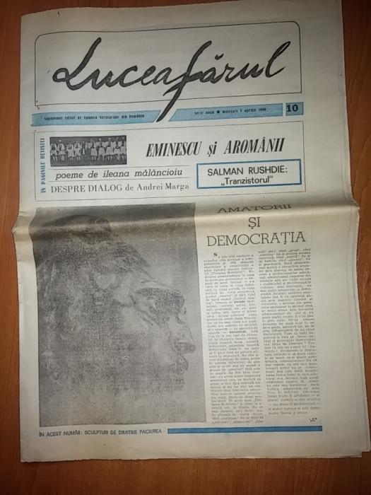 ziarul luceafarul 1 aprilie 1990 foto mare