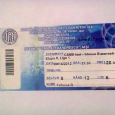 CSMS Iasi - Steaua Bucuresti (16 septembrie 2012) - Program meci