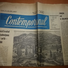 contemporanul 8 aprilie 1966-festivalul de arta,poezia  lui george calinescu