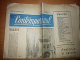 ziarul contemporanul 1 aprilie 1966 ( saptamanal politic,social,cultural )