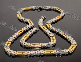 Set INOX model Versace lant+bratara COD 1045A
