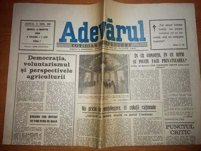 ziarul adevarul 6 martie 1990 foto