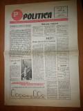 Ziarul politica 1 martie 1990 ( anul 1, nr. 2 al ziarului )