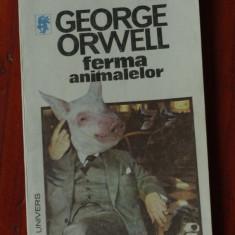 Carte ---- George Orwell - Ferma animalelor - 1992 - 110 pagini - Roman