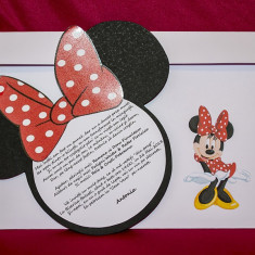 Invitatie botez Minnie Mouse - Invitatii nunta