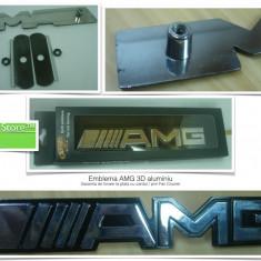 Emblema auto aluminiu 3D Mercedes Benz AMG 14.8 cm x 2.4 cm x 0.3 cm putin folosita Garantia de Livrare la cutie cu suruburi - Embleme auto