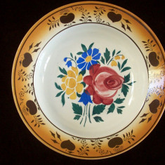 Farfurie Wilhemsburg de la sfarsitul sec.XIX.Stare excelenta.Rereducere! - Arta Ceramica