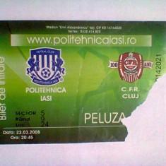 Politehnica Iasi - CFR Cluj (23 martie 2008) - Program meci