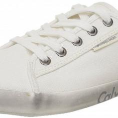 43, 44_Adidasi originali Calvin Klein JeanS_din panza_tenisi barbati CKJ_cutie, Culoare: Alb, Textil