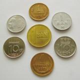 16. LOT 6 MONEDE STRAINE FOARTE MICI, diferite; moneda din centru, de de 1 ban 2013 este pentru comparatie si are diametru =16.75 mm