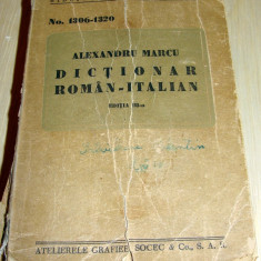 DICTIONAR ROMAN ITALIAN - Alexandru Marcu