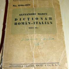DICTIONAR ROMAN ITALIAN - Alexandru Marcu - Curs Limba Italiana