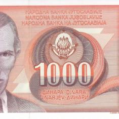 Bancnota Iugoslavia 1.000 Dinari 1990 - P107 UNC