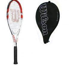 RACHETA WILSON CU HUSA, NOUA - Racheta tenis de camp Wilson, SemiPro, Adulti, Carbon/Bazalt