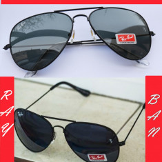 Ochelari RAY BAN de soare RAMA NEAGRA - Ochelari de soare Ray Ban, Unisex, Negru, Pilot, Plastic