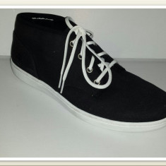 OFERTA! Ghete/bascheti TIMBERLAND originale noi tesut negru foarte comode 42.5 - Ghete barbati Timberland, Textil