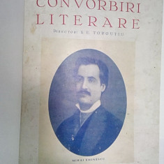 CONVORBIRI LITERARE -ANUL LXXII -NUMERELE 6,7,8,9 IUNIE-SEPT.1939-COMEMORAREA LUI MIHAI EMINESCU