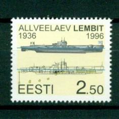 "Estonia.1996 Submarinul ""Lembit""  HE.61, Nestampilat"