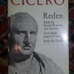 Cicero Rede fur S. Roscius * Rede gegen Verres * Rede fur Sestius in germana - Roman, Anul publicarii: 1970