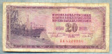 1067 BANCNOTA  - YUGOSLAVIA - 20 DINARA - anul 1974 -SERIA 4229980 -starea care se vede