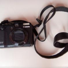 Vand aparat foto compact Canon PowerShot G12, pachet complet, baterie de rezerva, accesorii, 10 Mpx, 4x