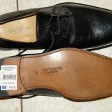 Pantofi barbatesti nr 42 Cortefiel Italtia piele noi 180 lei, Culoare: Negru, Piele naturala
