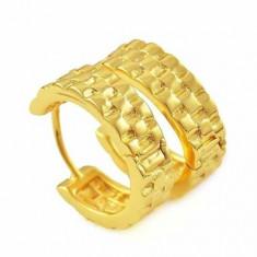 Superbi cercei 9k GOLD FILLED - Cercei placati cu aur