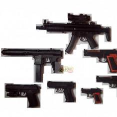 SET 7 AIRSOFTURI 6mm, MITRALIERA M5, TRANCAN, 5 PISTOALE DIVERSE+BILE BONUS ! - Arma Airsoft