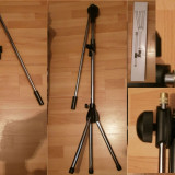 Stativ Microfon suport doua microfoane nuca microfon shure inclusa